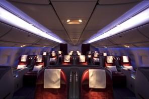 Amazing Qatar Airways Business Class inflight service