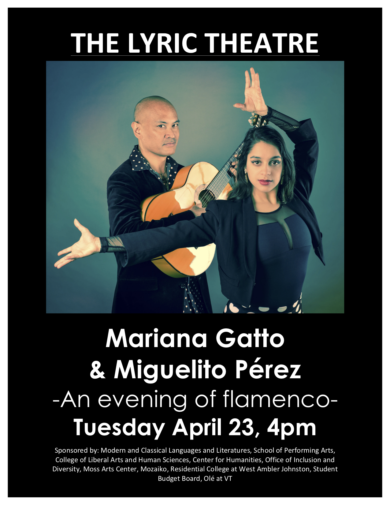Flamenco Arte Y Ole Flamenco Dance With Mariana Gatto And Miguelito Perez The Lyric