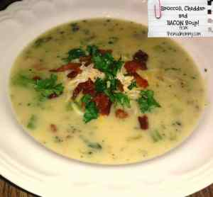 Broccoli Cheddar and BACON Soup