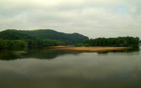 Wisconsin River and sandbar
