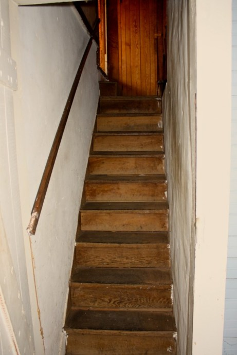 The Secret Staircase takes you to Writing Room and two other rooms, one of which is unfinished.
