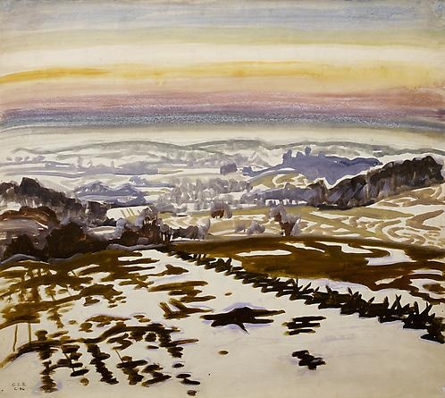 Countryside Panorama at Sunset, Charles Burchfield, 1917