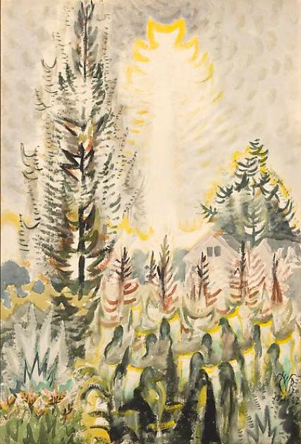 Sun, Drought,  and Corn, Charles Burchfield,  1961-1962