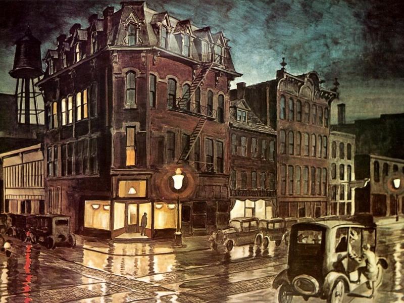 Rainy NIght, Buffalo, Charles Burchfield