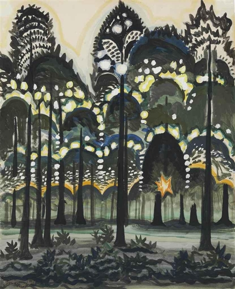 Sunrise in the Forest, Charles Burchfield