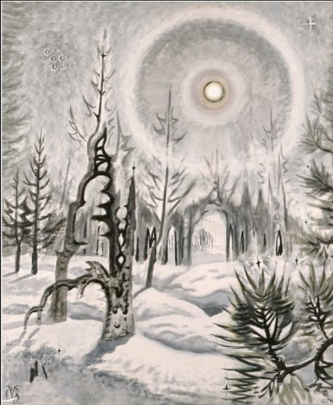 Winter Trees in Moonlight, Charles Burchfield