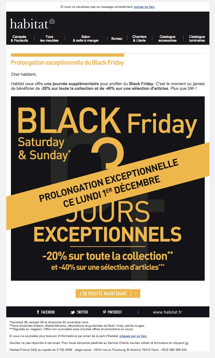 Canape Black Friday Galerie De Newsletters Habitat Prolongation Exceptionnelle Du