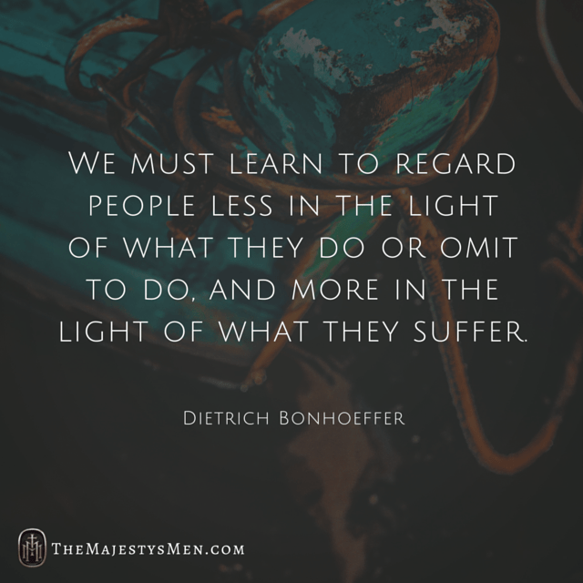 Dietrich Bonhoeffer Quote Regard People Suffer