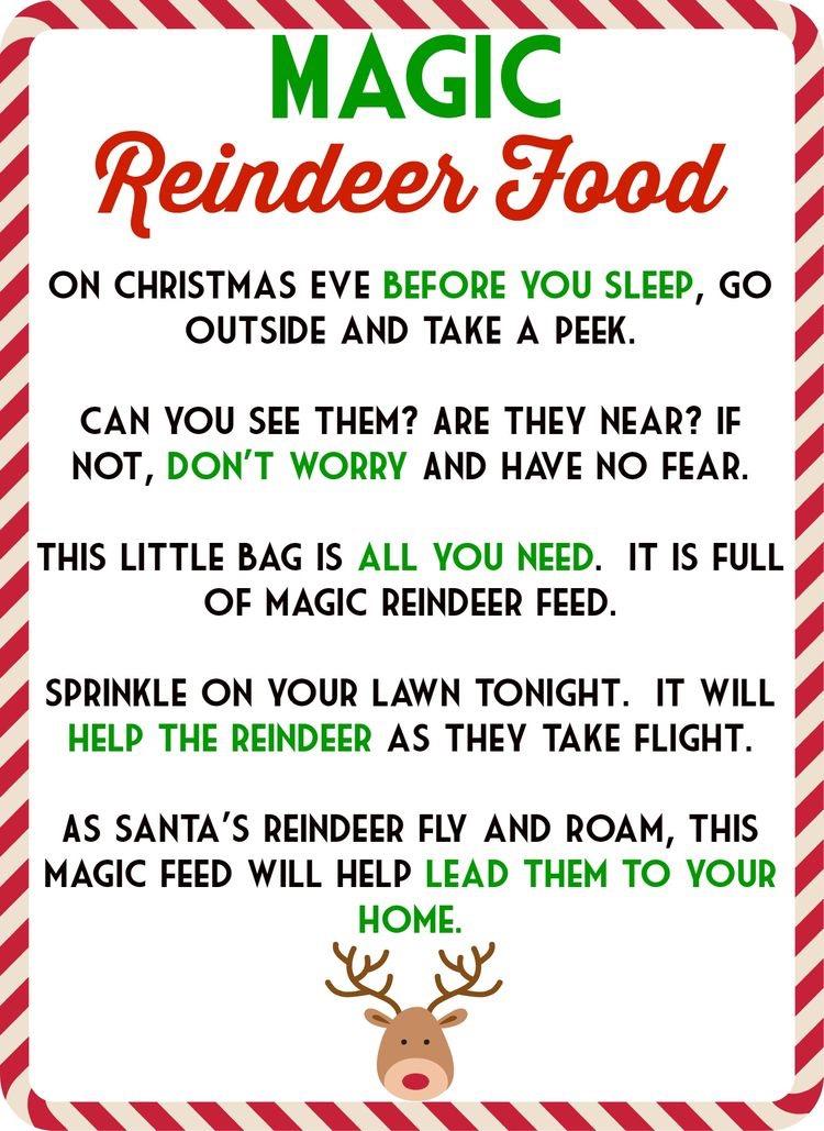 Magic Reindeer Food! \u2013 The Mama Life