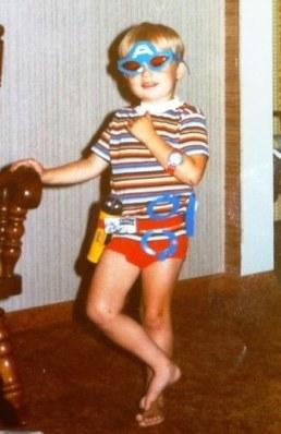 Derek as a boy