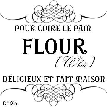 French Style Canister Labels For The Kitchen and Food Storage - dessin de maison a imprimer
