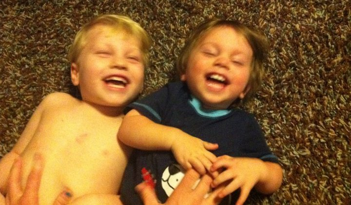 Blaise and Maddock having the giggles.