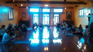"Mother's Day Retreat! Join Jen Pastiloff in Ojai, Calif this May for a life-changing weekend retreat. May 8-10th. No yoga experience required. Just be a human being.  Click photo to book.   ""Here's the thing about Jen Pastiloff, folks. Here's the revolutionary thing. She listens. She listens with an intent focus, a focus that follows your words inside you. Because she has hearing problems, she watches your lips as you speak, and she plucks the ash of your words from the air and takes it inside herself and lays it beside her heart, where before too long your words start beating as if they were strong, capable, living mammals. And then she gives them back to you. Boiled down, this is the secret to Jen's popularity. She can call what she does Beauty Hunting–she is for sure out there helping people find beauty. She can start a campaign called ""Don't be an asshole"" and remind us all to stop a second and please, please, please be our better selves. She can use words like attention, space, time, connection, intimacy. She can ask participants to answer questions like What gets in your way? What stories are you carrying around in your body? What makes you come alive? Who would you be if nobody told you who you were? All of that is what it is. But why it works is because of her kind of listening. And what her kind of listening does is simple: It saves lives."" ~ Jane Eaton Hamilton."