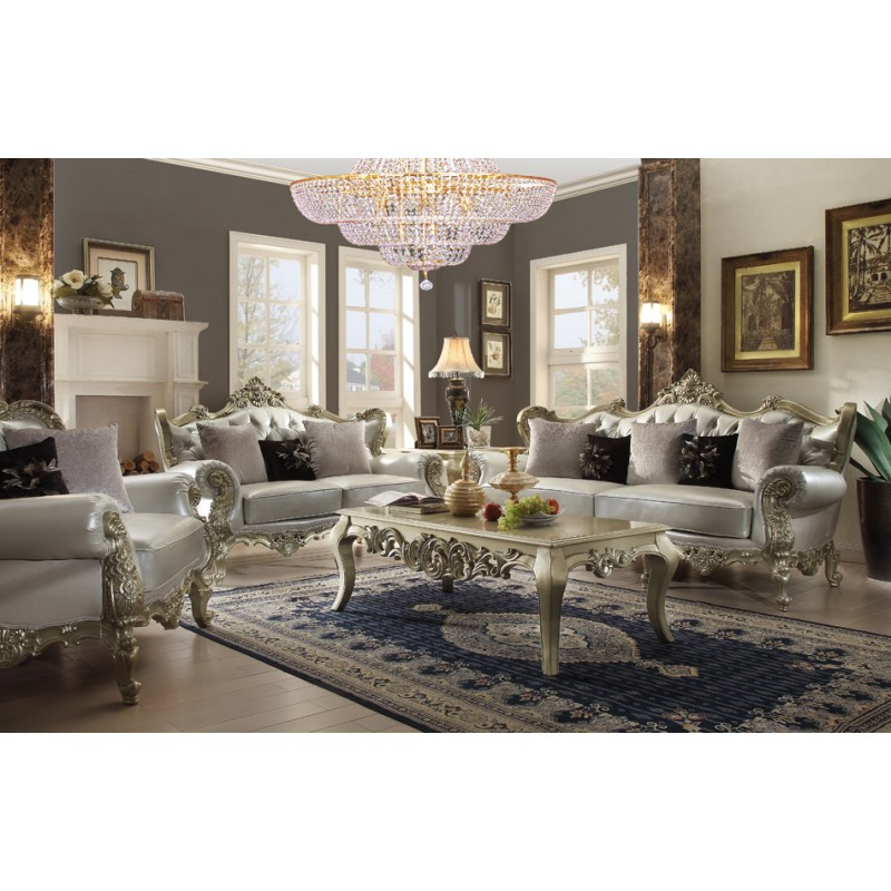 Homey Design upholstery living room set Victorian, European - victorian living room furniture