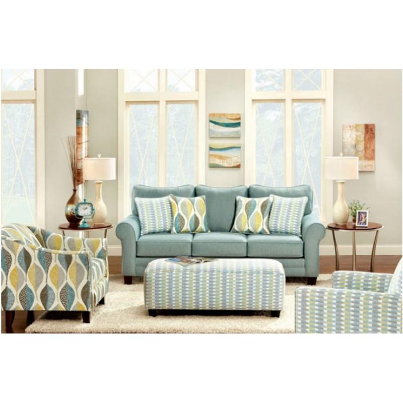SM8140 Furniture of America Brubeck Living room soft teal - teal living room furniture