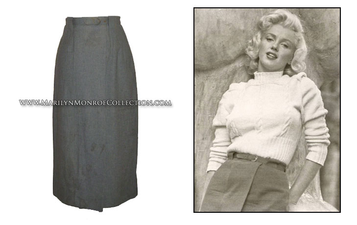 Marilyn monroe s personal casual skirt amp belt