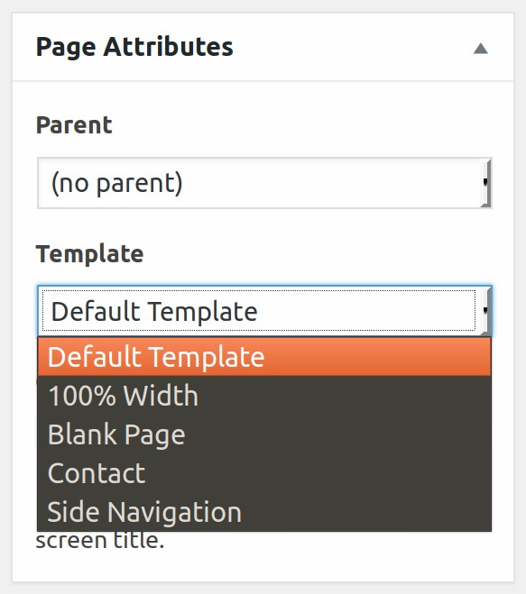 Page Templates - ThemeFusion