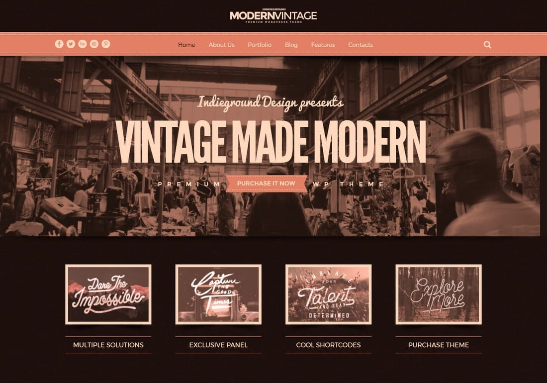Vintage Look How To Create A Vintage Website With Wordpress - Theme Junkie