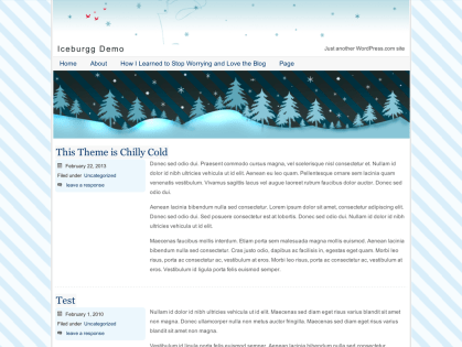 Iceburgg WordPress Theme