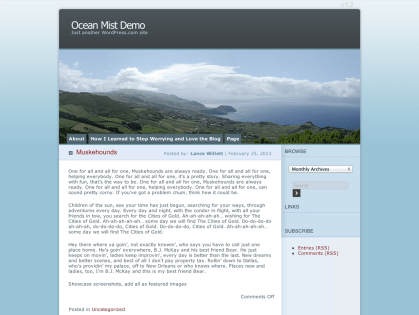 Ocean Mist WordPress Theme