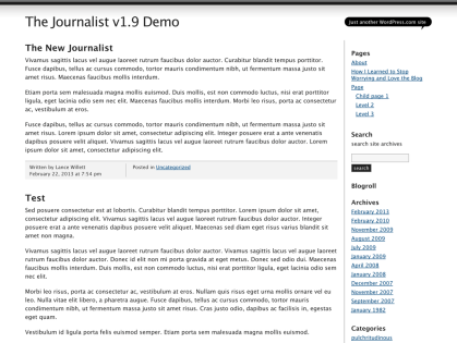 The Journalist v1.9 WordPress Theme