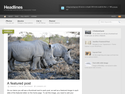 Headlines WordPress Theme