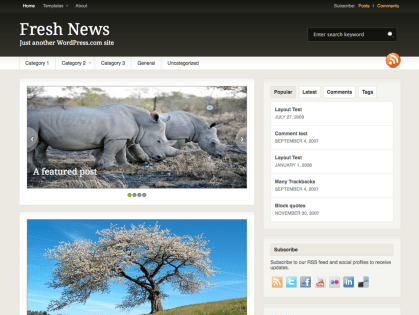 Fresh News WordPress Theme