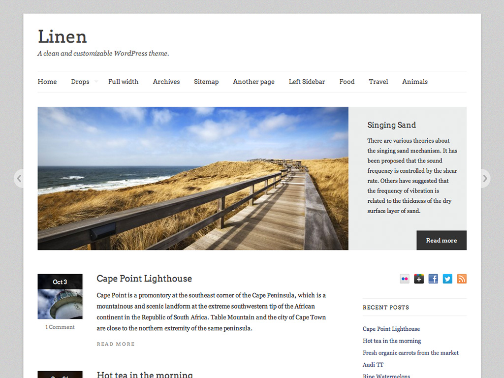 Linen WordPress Theme