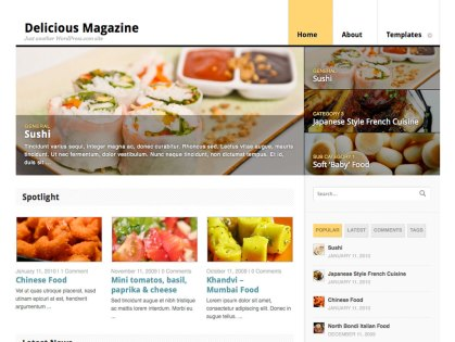 Delicious Magazine WordPress Theme
