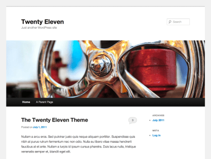 Twenty Eleven WordPress Theme