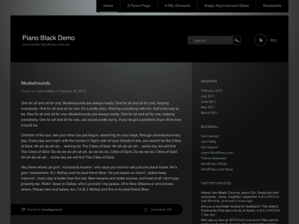 Piano Black WordPress Theme