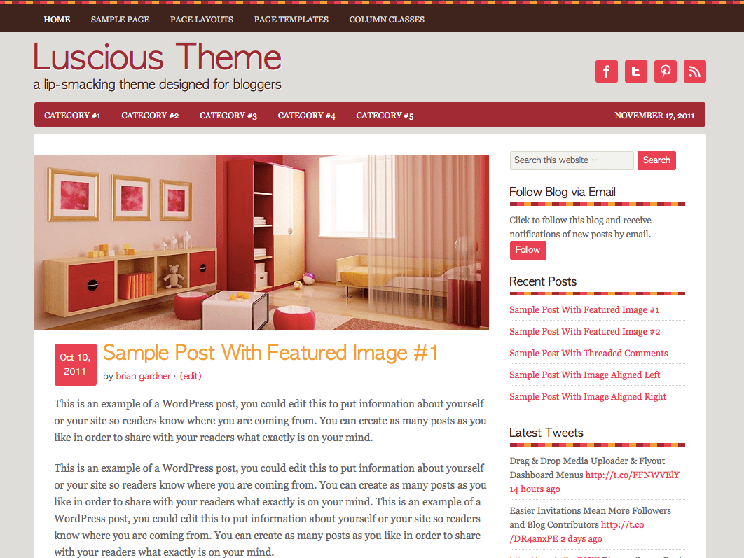Luscious WordPress Theme
