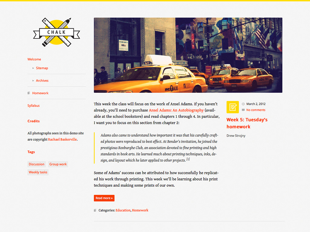 Chalk WordPress Theme