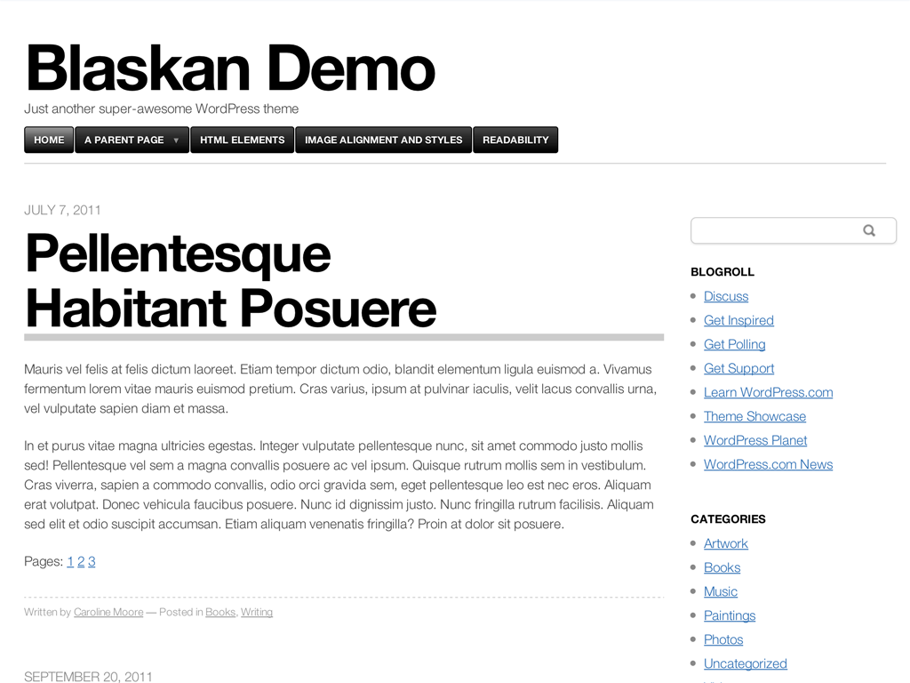 Blaskan WordPress Theme