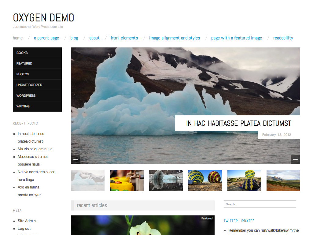 Oxygen WordPress Theme