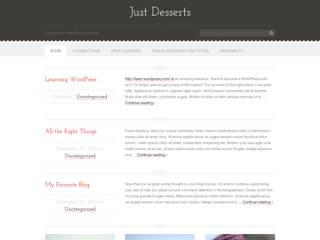 Just Desserts WordPress Theme