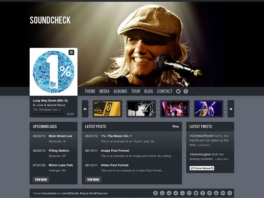 Soundcheck WordPress Theme