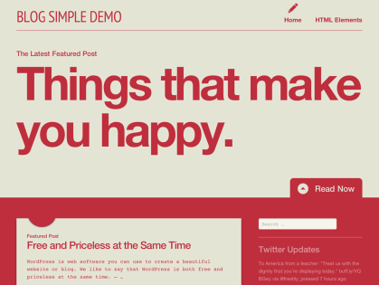 Blog Simple WordPress Theme