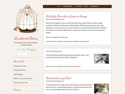 Lovebirds WordPress Theme
