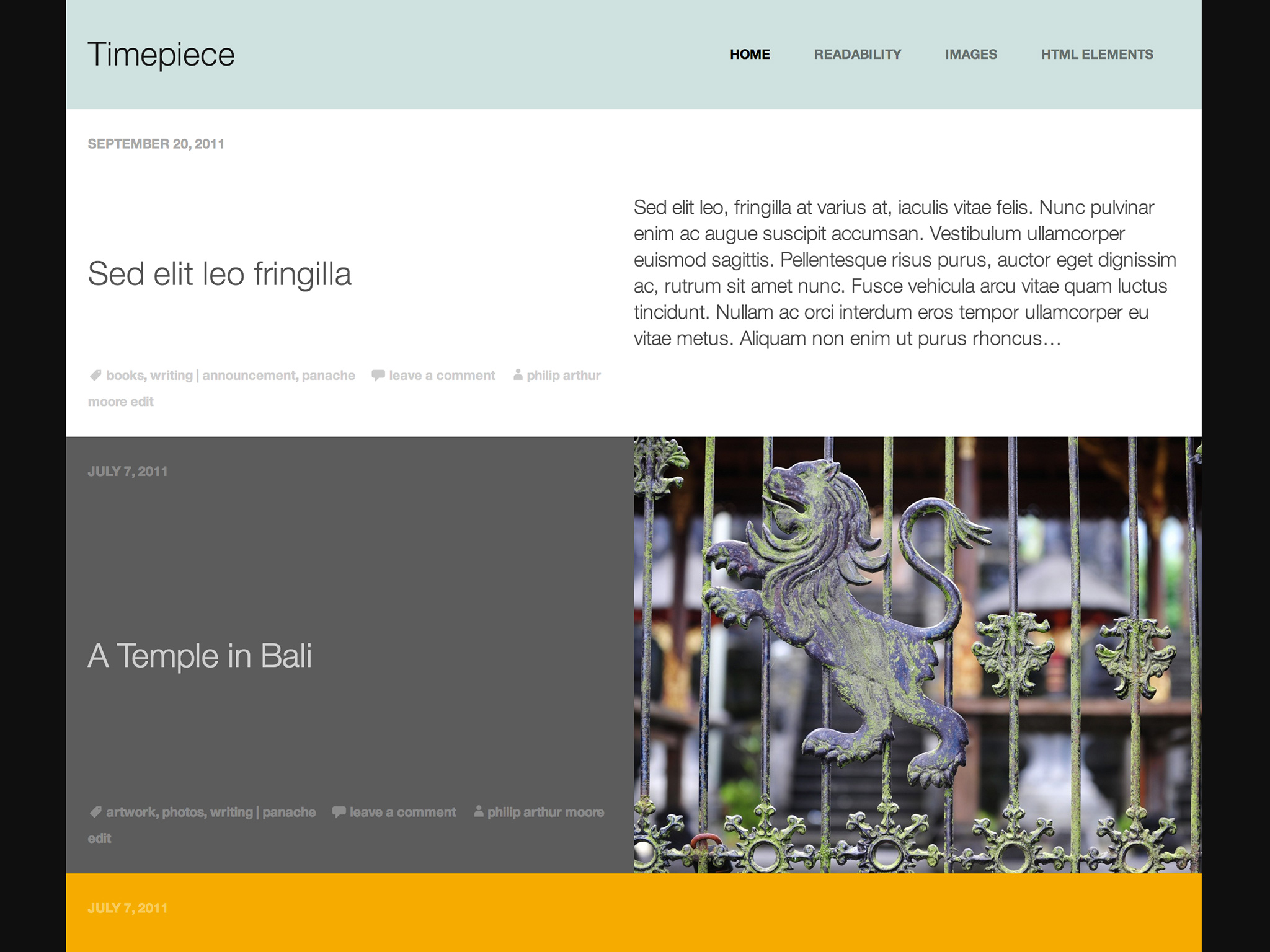 Timepiece WordPress Theme