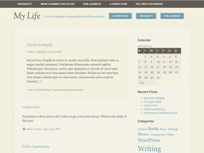 My Life WordPress Theme