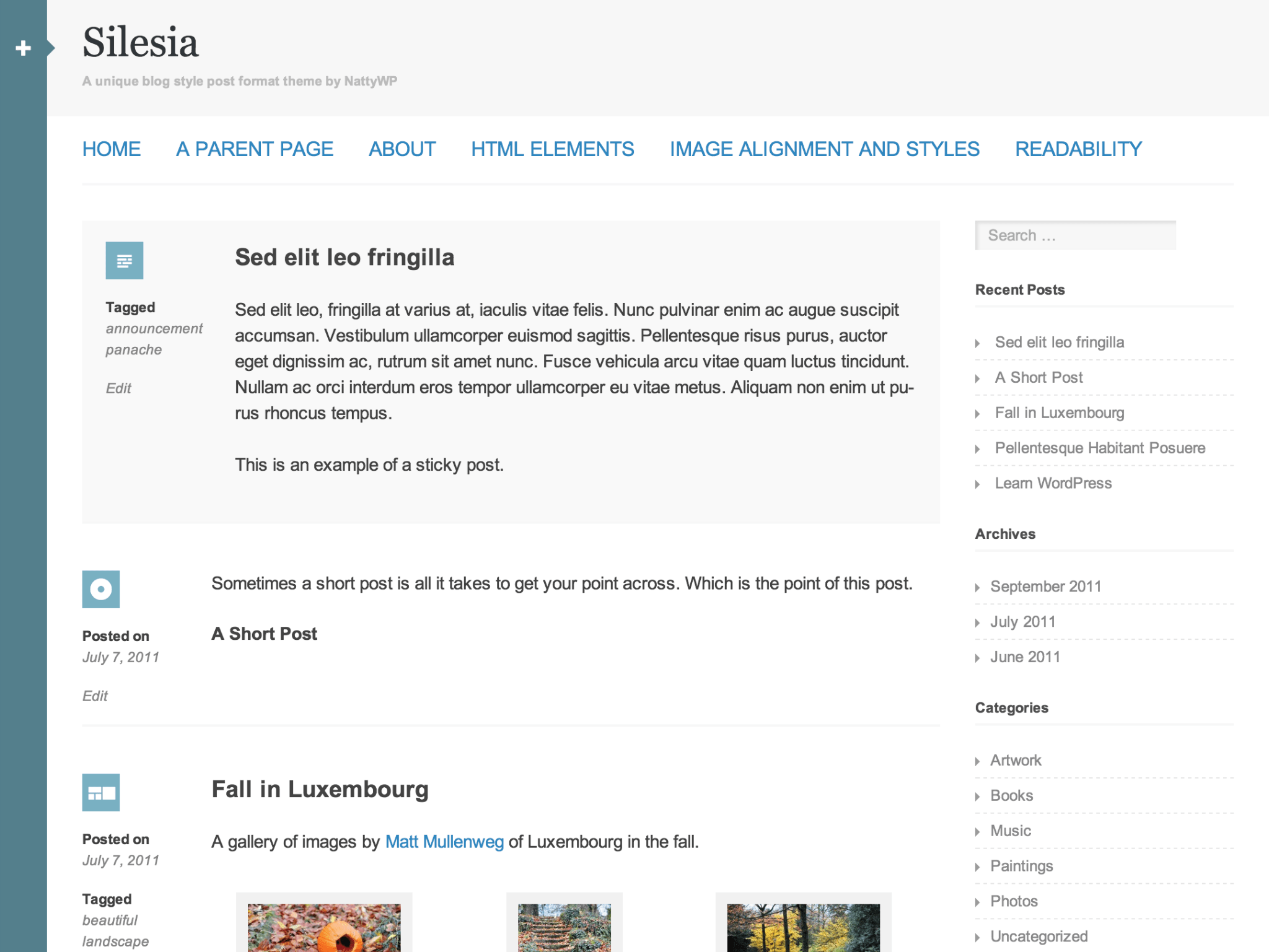 Silesia WordPress Theme