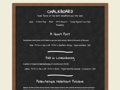 Chalkboard WordPress Theme