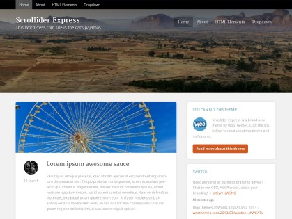 Scrollider Express WordPress Theme