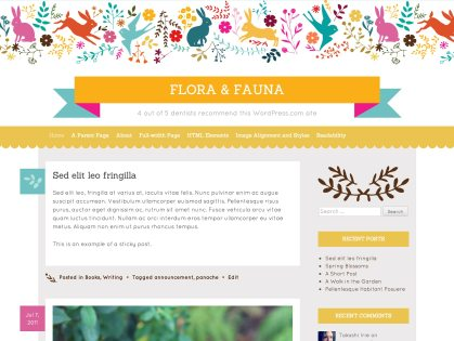 Flora and Fauna WordPress Theme