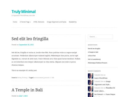 Truly Minimal WordPress Theme
