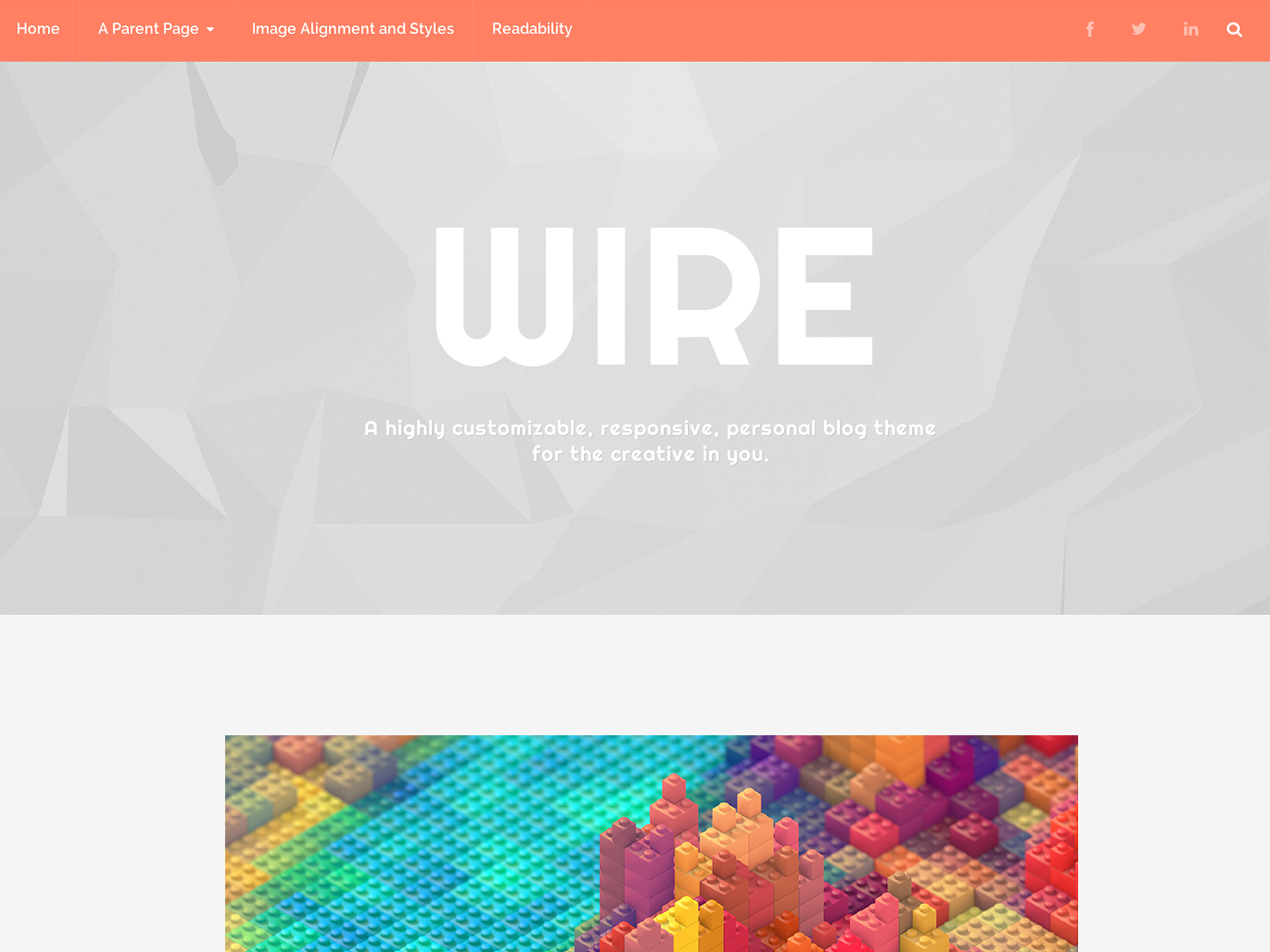 Wire WordPress Theme
