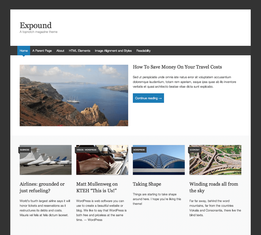 Expound WordPress Theme