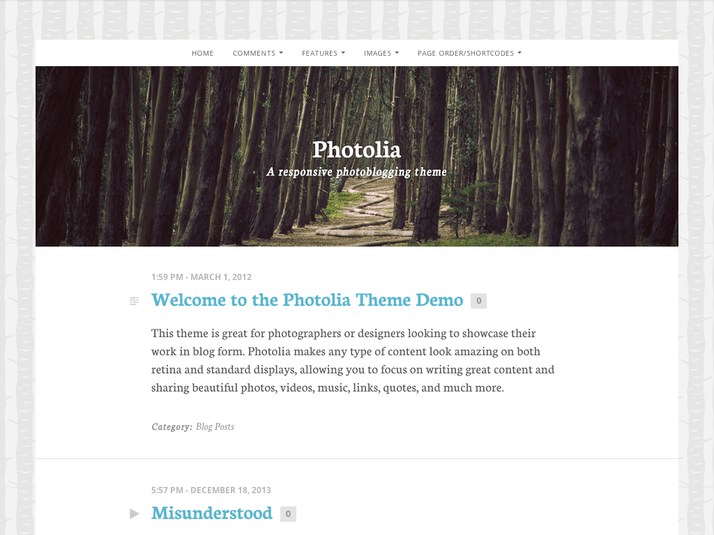 Photolia WordPress Theme