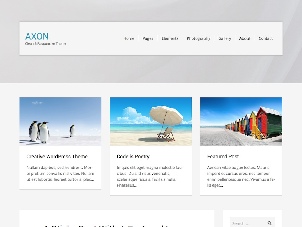Axon WordPress Theme